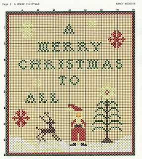 a merry christmas to all free cross stitch