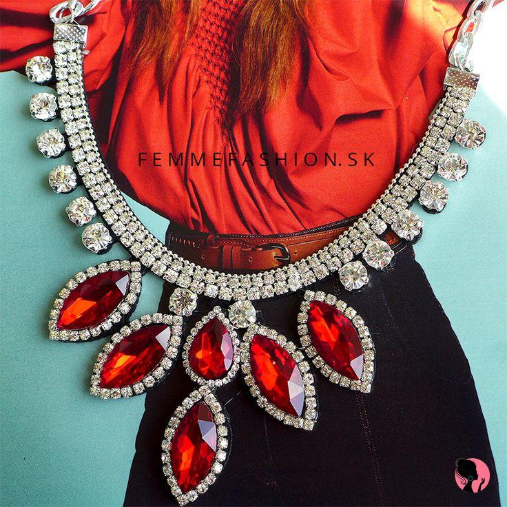 NOVINKA! Náhrdelník Diva Red http://femmefashion.sk/nahrdelniky/3054-nahrdelnik-diva-red.html