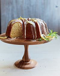 Buttermilk Bundt Cake with Lemon Glaze - F&W - Colleen Cruze Bhotti