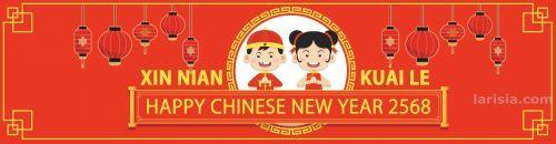 Selamat Tahun Baru Imlek 2568  Larisia mengucapkan:  Selamat Tahun Baru Imlek 2568  Bagi teman-teman yang merayakan.