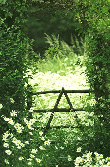 """The old man in the village had told me to look for the """"triangle gate"""". When I asked what he meant, he shrugged, and said that if I was meant to find it, then I would. Standing in the lane, looking at the gateway, I paused for a moment. Did I really want to pass through? He had told me that there would be no turning back, once I had climbed over."""