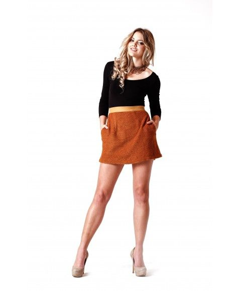ON A WHIM MOSS SKIRT - CAMEL    •    Wool blend   •    Made in Perth, WA  •    standard loose fit, non stretch, pockets on both sides of garment  •    Hidden zip at back with wooden button at top.