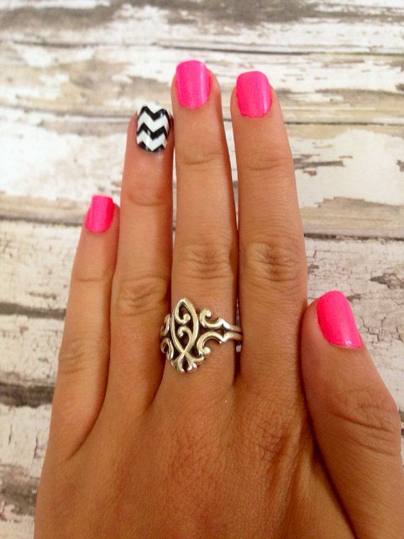 chevron nails on Etsy, a global handmade and vintage marketplace.