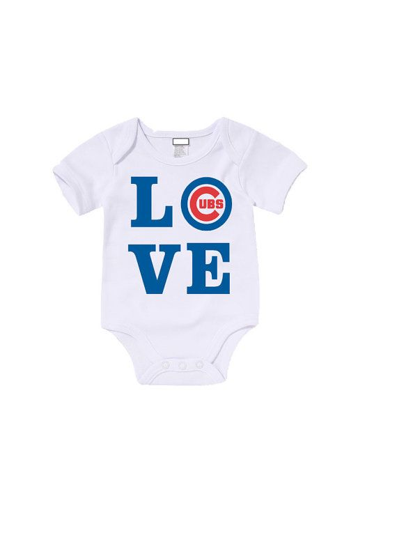 Custom LOVE Chicago Cubs Onesies T Shirts By AGCustomsCreations