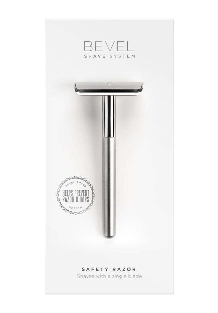 BEVEL Safety Razor // A brass-weighted double-edge safety razor, designed to cut at skin level