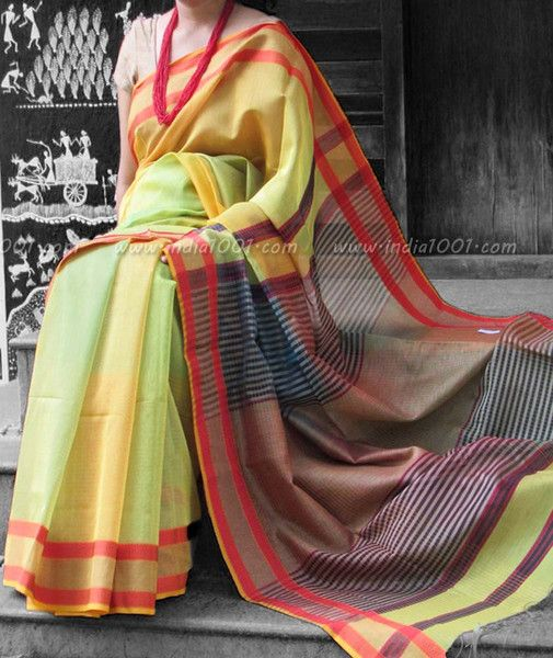 Elegant Woven Maheshwari Silk Saree