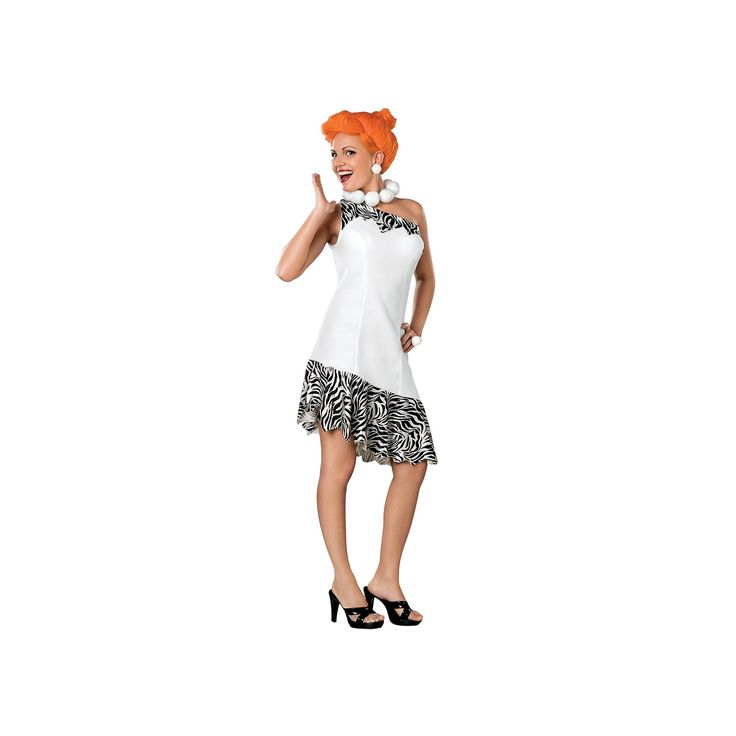 Wilma Flintstone Costume - Adult, Women's, Size: Medium, Multicolor