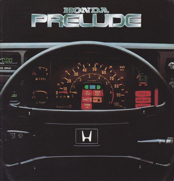 Honda Prelude Mk1 UK Brochure 1982