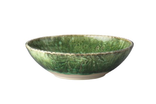Pasta Bowl/Green/ Handmade Ceramics/ Dishwasher safe/ Made by Sthal and available in our Winchester shop