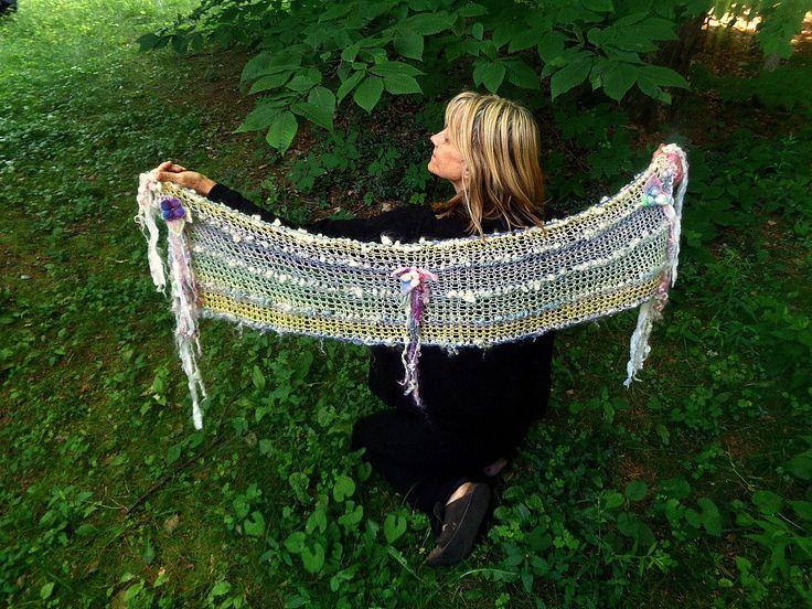Hand stricken Kunst Garn Wolle Seide Baumwolle von beautifulplace