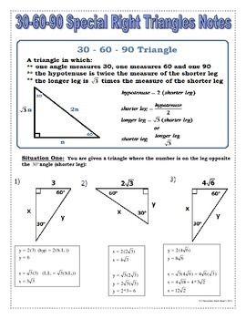 Printables 30-60-90 Triangle Worksheet 30 60 90 triangle worksheet davezan triangles davezan
