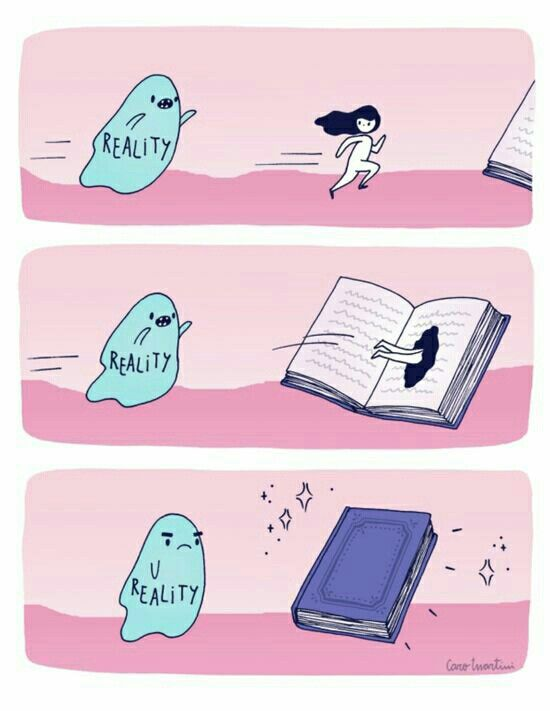 Reality vs Book ... Book always wins! #biblioteques_UVEG                                                                                                                                                      More