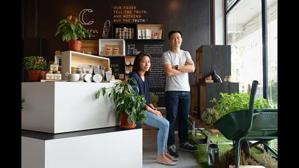"""Singapore- Founders of new online retailer """"Crateful"""" Joey Gan and Angela Phua  want to give support to the producers of artisanal + local foods with this pop-up shop. Shows how global  pop-up, artisanal, shop local movements are!  It is becoming more and more of a worldwide retail marketplace! PopUp Republic"""
