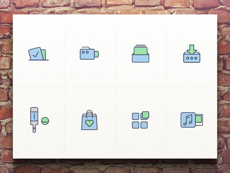 Just a few little icons for one of our internal projects.