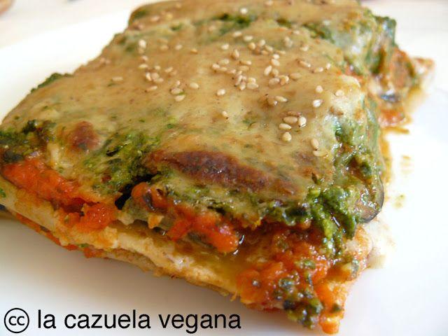 Lasaña de verduras y pesto | #Recetas de cocina | #Veganas - Vegetarianas ecoagricultor.com