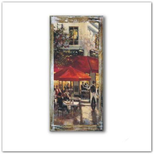 Párizsi utcakép fa táblakép, falikép