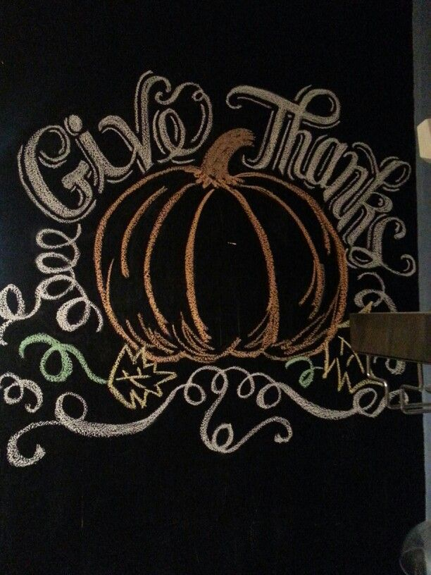Thanksgiving chalkboard wall, 2013
