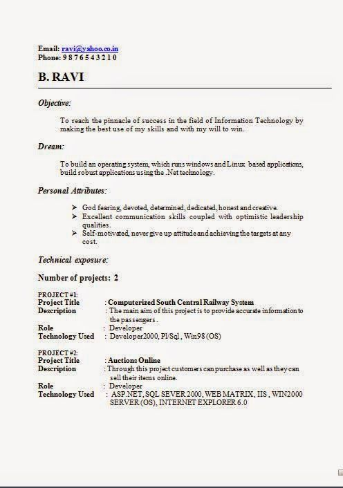 personal attributes for a resume