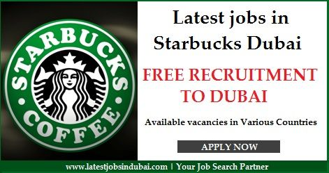 Latest jobs in Starbucks Dubai. You may apply for the job in American Largest Coffeehouse Company.