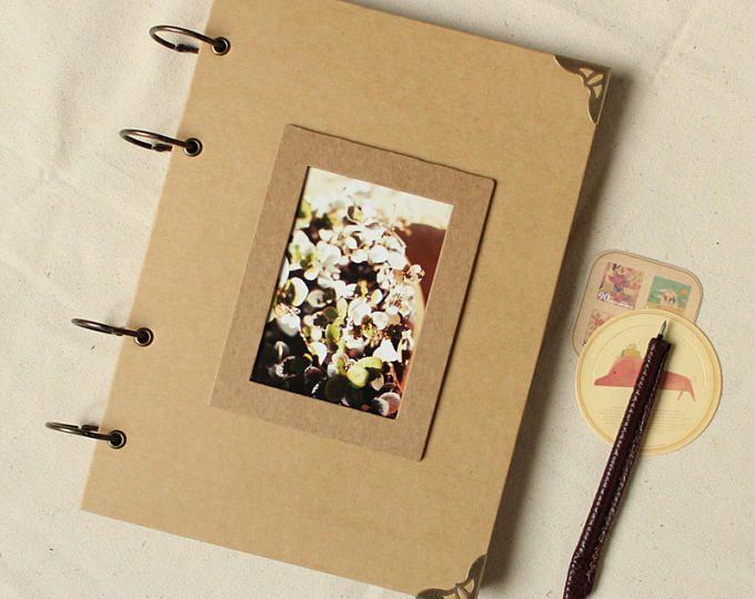 A4 Ring Binder Photo Album 56 Pages Kraft Scrapbook Album