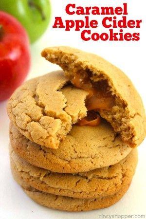 caramel apple pie cookies apple cider cookies cookie sheets caramel ...