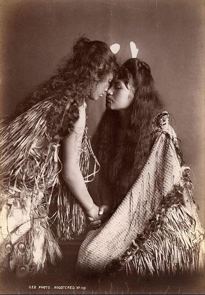 Hongi, File:Arthur James Iles - Maori women, New Zealand -