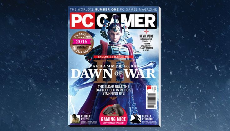 PC Gamer US February issue: Dawn of War 3 | PC Gamer  #gaming #magazines