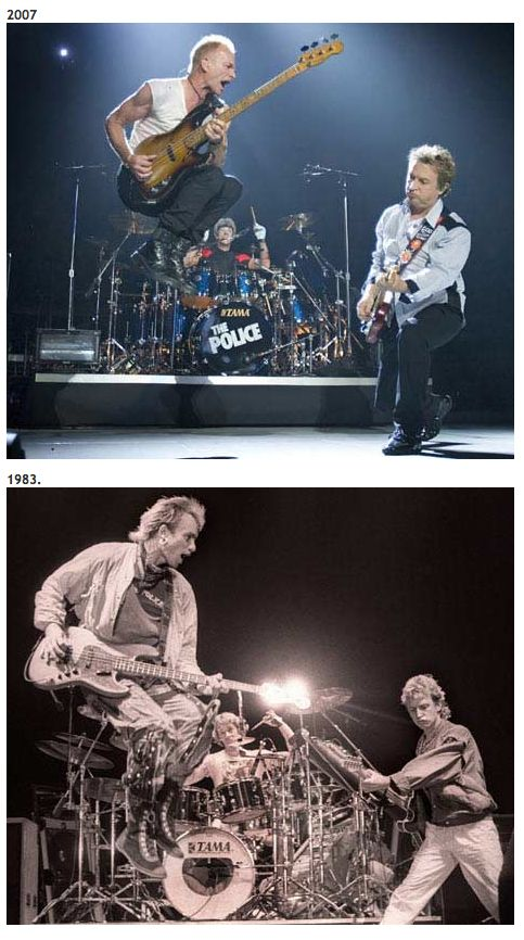 The Police; then and now.