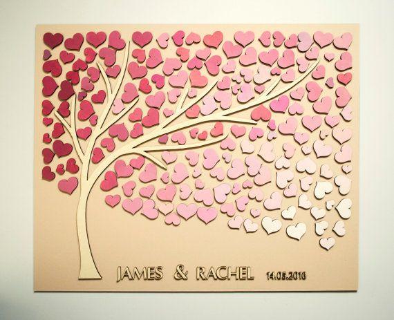 Custom Wedding Guest Book Alternative Tree 3D door HAPPYprojectSHOP