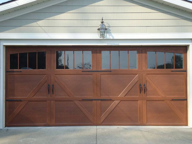 Our new garge door. Wayne-Dalton Garage door Honduran Mahogany