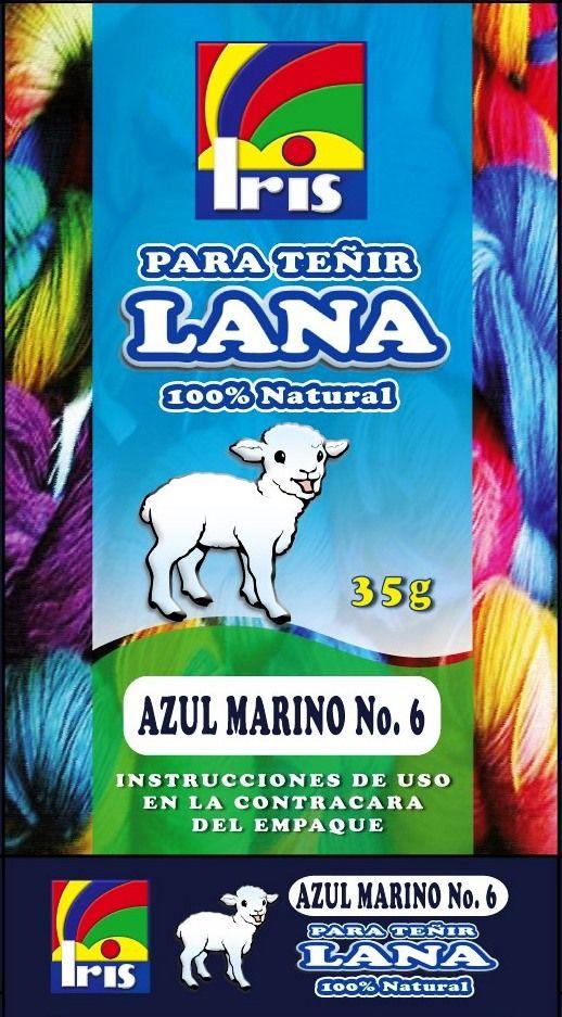 TINTES IRIS PARA TEÑIR CUALQUIER TIPO LANA 100% NATURAL.