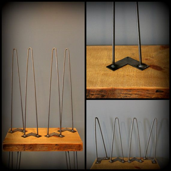 Hairpin Leg - Metal Table Leg - great cheap way to make a table if i ...