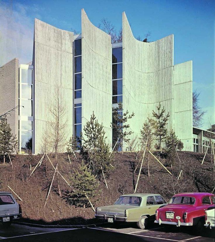 Modern Architecture Zurich kantonsschule rämibühl (1960-70) in zurich, switzerland,eduard