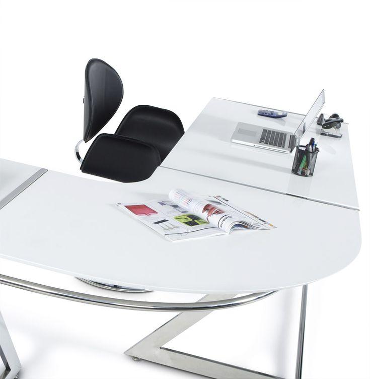 Délicieux Grand Bureau D Angle #14: Bureau ZETA - Un Magnifique Bureau Du0027angle Aux Formes Très Design Qui Vous  Proposera