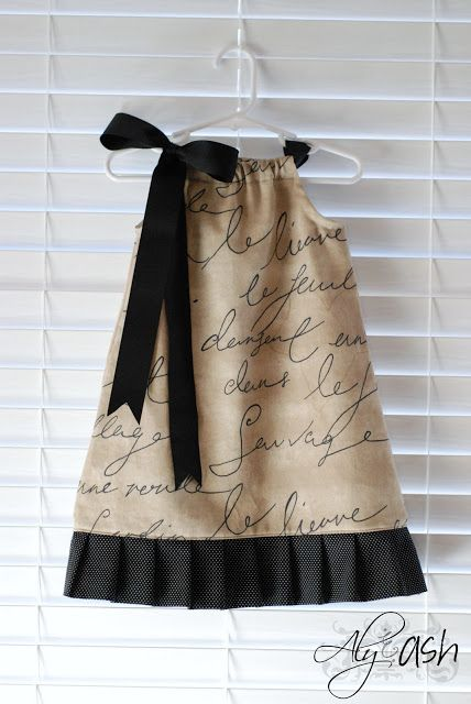 Febuary Sewing Project: Pillowcase Dresses Part II ~ Aly&Ash