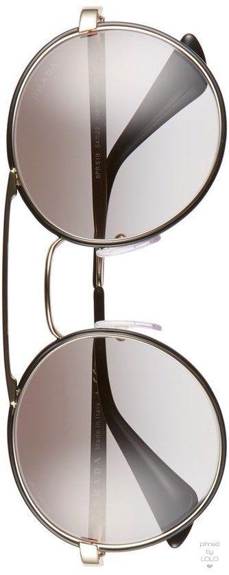 Prada Cinema 54 mm round Sunglasses