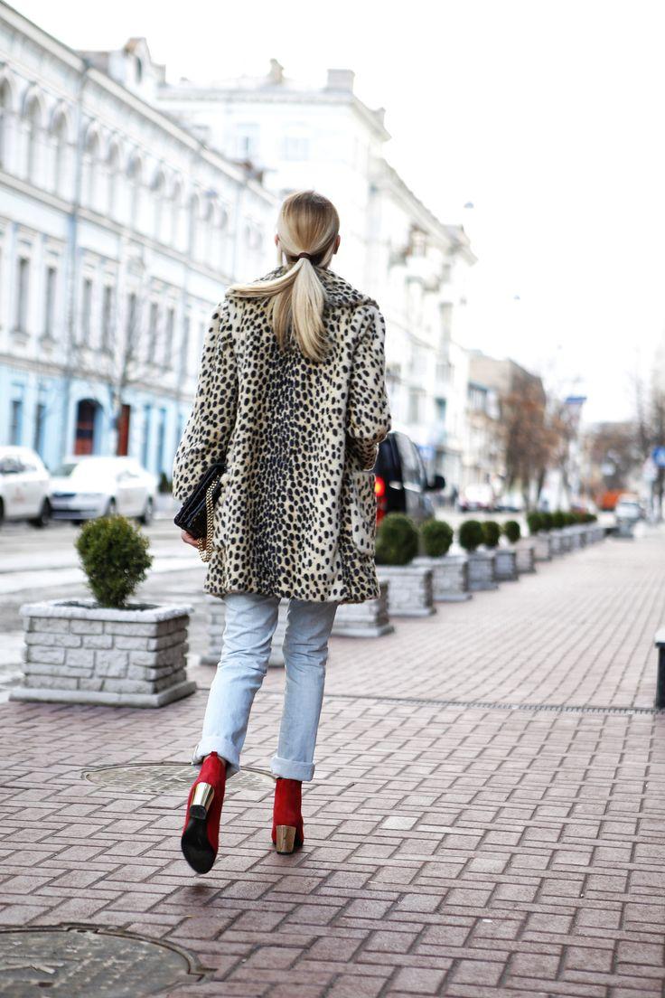 "STREET LOOK (Alina Gelzina, co-founder of ""It-Girl Agency) Glasses - Handmade Coat - Topshop Top - Topshop Jeans - Aries Boots - Opening Ceremony Bag - Jimmy Choo Photo - Konstanstin Avramets"