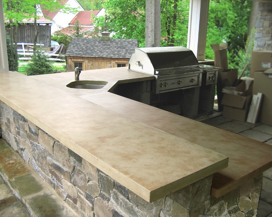 23 best concrete bbq 39 s outdoor bar tops images on for Concrete bar top ideas