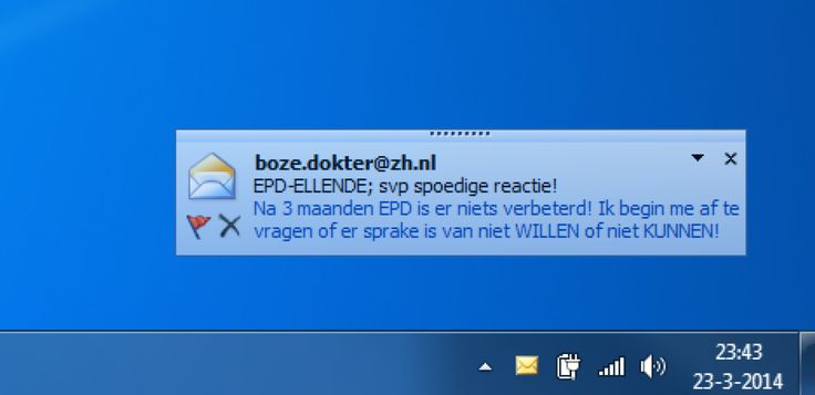 Boze mail van arts