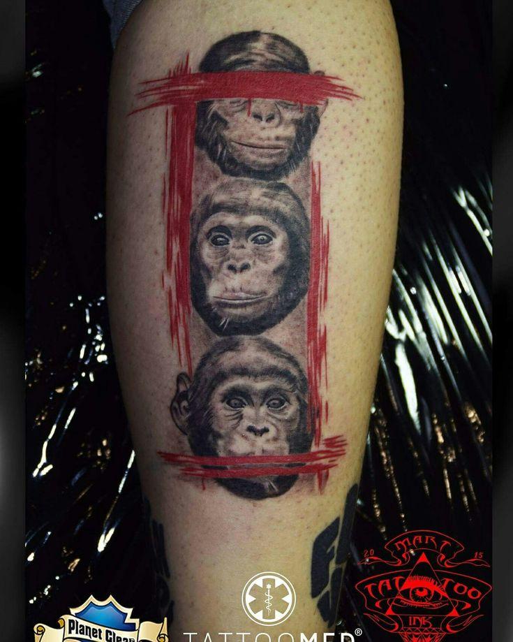 Affen by M-art-ink-Tattoo  #tattoomed #tattoo #tattoos #MartINK #dragonfly #stingray #ViktorPortugal #kwadron