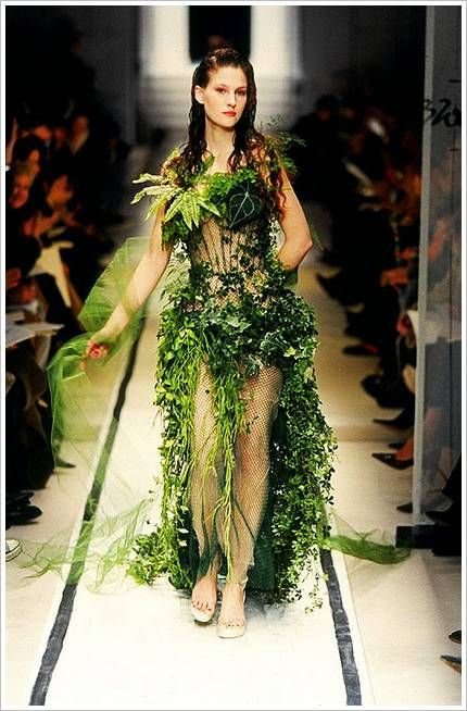 Vertical garden in motion.... Looks like she could easily be a character in one of my books :D