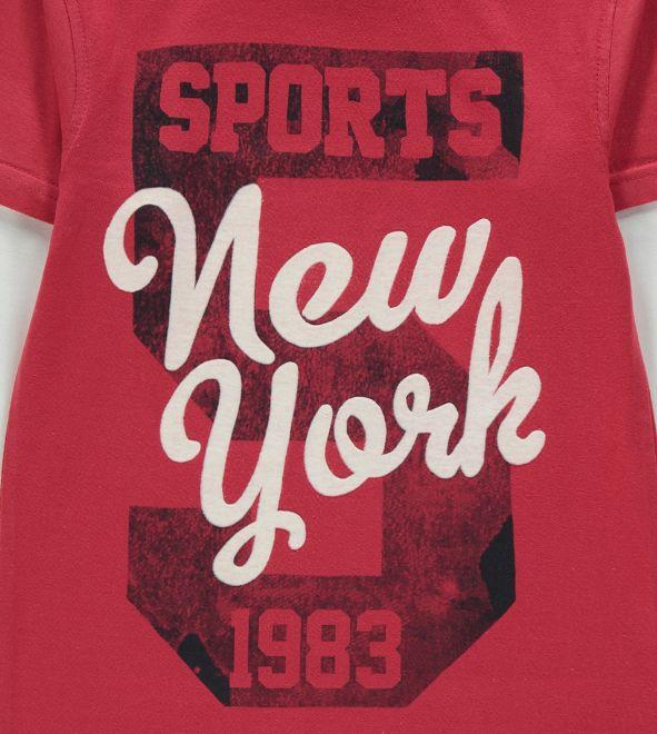 New York sports varsity graphic T-shirt