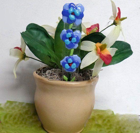 Plant Stake Plant Stick Fused Glass Decorative Flower 640 x 480