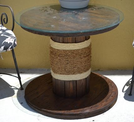 114 best furniture repurposed images on pinterest for for Small wire spool ideas