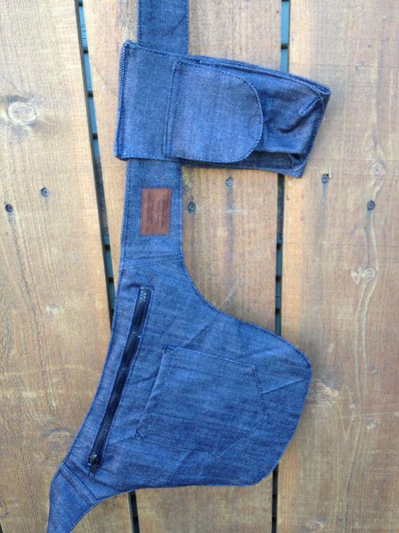 Dril de algodón bolsa de cadera con la bolsa del por EmmaPintado