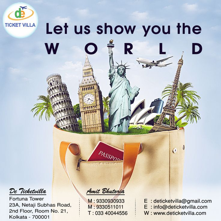 Let us show you the #World... Visit Us at: www.deticketvilla.com Or Call Us at: +91 9330511011