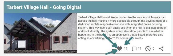 FYI: Tarbert Village Hall – Going Digital