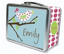 Personalized lunchbox with chalkboard inside for writing notes to your little one