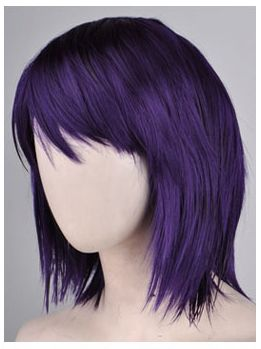 BOBBED STRAIGHT PANSY PUPLE cosplay hair wig (Made in Korea, Best Quality)