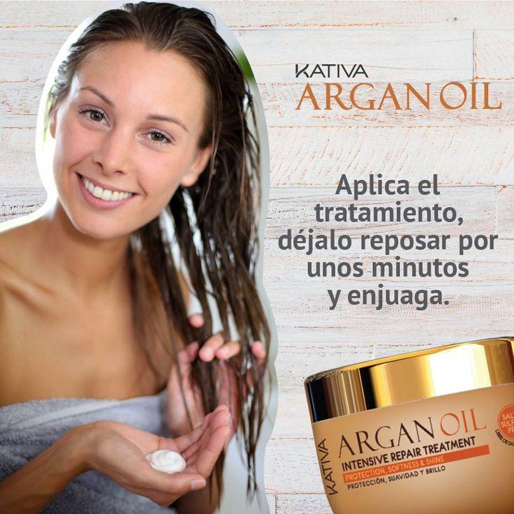 Kativa Argan Oil Intensive Repair Treatment. Είναι μια γραμμή που σχεδιάστηκε για ξηρά, θαμπά μαλλιά, που δημιουργούνται από διάφορους παράγοντες αλλά και από εξωτερικούς παράγοντες όπως ο καιρός, ο ήλιος, κ.λπ. Έχει ενυδατική δράση η οποία αποτρέπει την ξηρότητα και προστατεύει την τρίχα δίνοντας παράλληλα φωτεινότητα και λάμψη. ΕΝΤΑΤΙΚΗ ΘΕΡΑΠΕΙΑ, με εντατική δράση για την βελτίωση της εμφάνισης των μαλλιών μας.